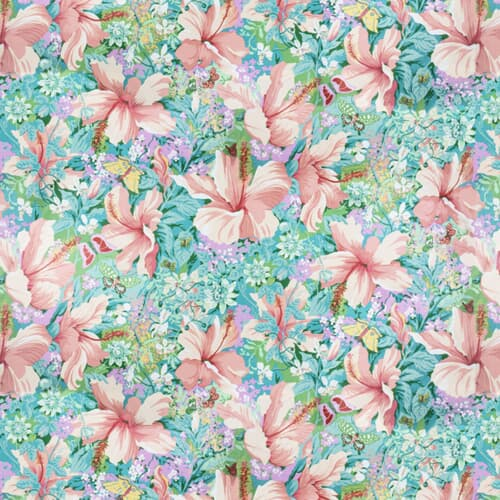7317-20 TROPICAL COLLAGE VINTAGE BASSETT MCNAB