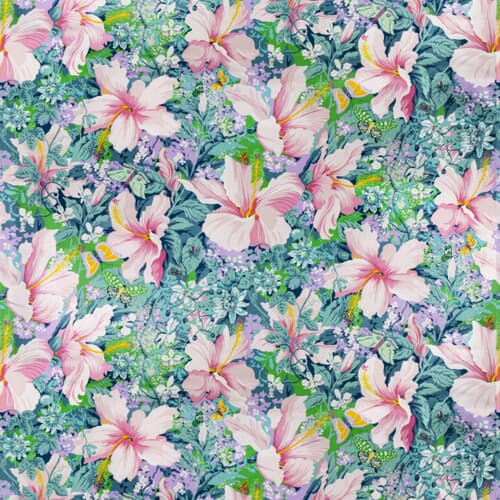 7317-5 TROPICAL COLLAGE VINTAGE BASSETT MCNAB