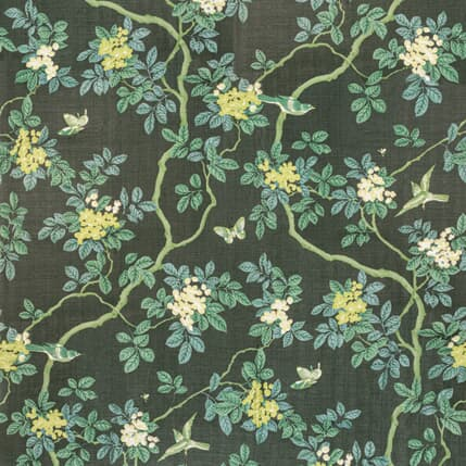 7814 15 BIRDS AND BUTTERFLY HERRINGBONE WOODLAND